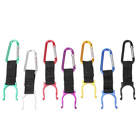 7 Pack EDC Camping Carabiner Clip Assorted Bottle Hook Outdoor Hiking Backpack Buckles