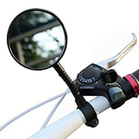Flexible Bike Bicycle Handlebar Glass Rear View Cycling Cycle Rearview Mirror Suitable For Handlebars Mountain Bike And Road Bike Color Black Brand New