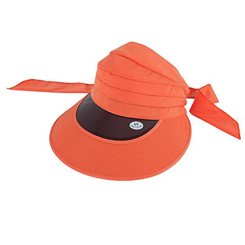 Summer Large Brimmed UV Sun Protection Hat Cycling Sun Hat, Orange