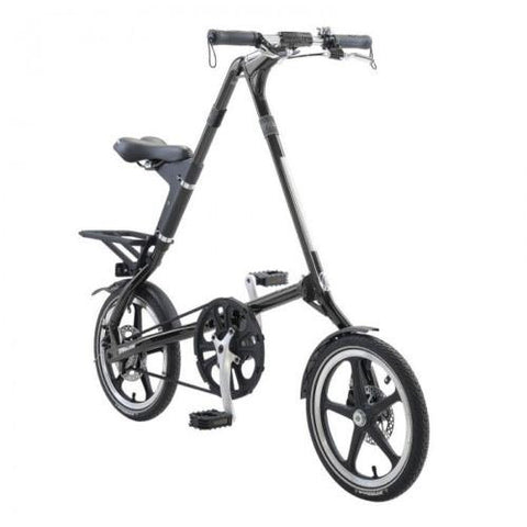 "2015 STRiDA LT Black 16"" Lightweight Folding Bike- Open & Fold in 10 Seconds!"