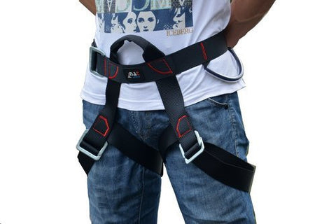 Climbing Harness, Guzila Safe Seat Belts For Mountaineering Outward Band Fire Rescue Working on the Higher Level Caving Rock Climbing Rappelling Equip
