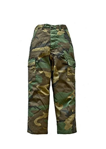 Trooper Clothing Classic BDU Camo Pant w/6 Pockets, Large, BDU Camouflage, Large 14-16,