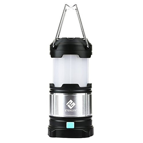 Rechargeable Camping Lantern , Etekcity Upgraded LED lantern with Magnetic Base, 4400mah USB Power Bank (Black)
