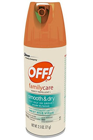 Off! Familycare Smooth & Dry Insect Repellent 2.5 oz (71 g),5pk
