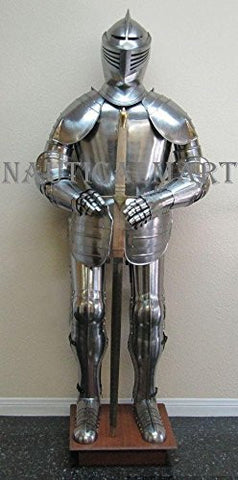 16th Century Knight Full Suit Of Armor By Nauticalmart