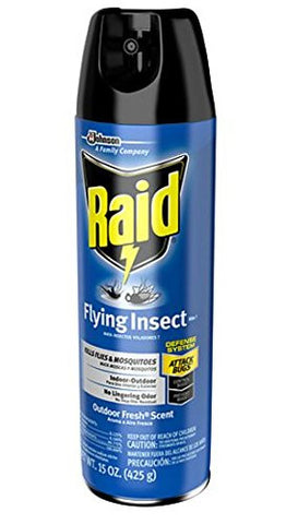 Raid Flying Insect Killer Aerosol, Outdoor Fresh 15 oz (425 g),5 pk