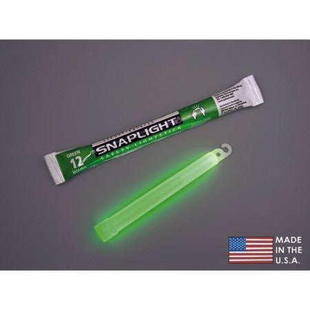 "Cyalume Technologies SnapLight Lightsticks - 12 Hour, 6"" - Model 9-08001 - Pkg of 10"