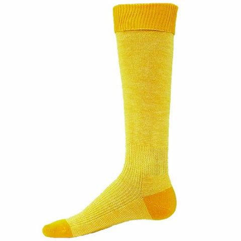 Red Lion Skinny Knee High Soccer Volleyball Sock ( Gold / White - Large )