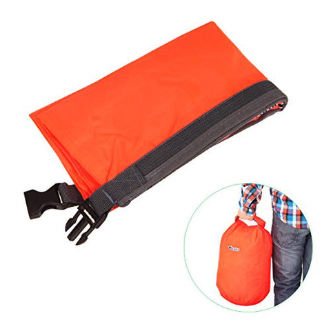 Tera® Lightweight Portable Durable Waterproof Roll Folding Pounch Dry Bag for Outdoor Drifting Camping Hiking (Orange, Small Size)