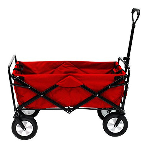 Bright Red Folding Wagon Mac Sport