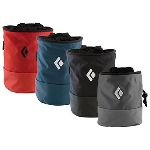 Black Diamond Mojo Chalk Bag 10 pack, Small/Medium, Ultra Blue/Orange/Black/Dark Denim