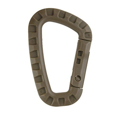 10pcs Carabiner Snap Clip Water Bottle Hook Holder Camping Hiking - Tan