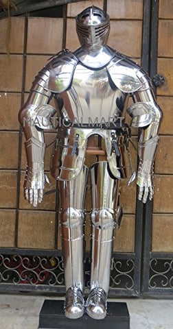 CRUSADER FULL SUIT OF ARMOR MEDIEVAL ARMOUR WEARABLE COSTUME