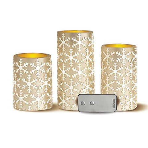 Apothecary & Company 3-Piece LED Candle Set With Daily Timer, Set The Mood With Realistic Candlelight With The Apothecary & Company 3-Piece Led Candle Set With Daily Timer