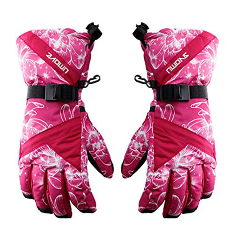 Thicken Windproof Skiing/Snow/Cycling Gloves Sports Gloves For Girls Red