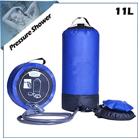 Sprill Plastic Model Pressurized Solar Camping & Rinse Shower, Great for Camping, Rinsing, Backpacking, Surfing, Paddle Boarding, Beaches, Hiking, 2.9 gallon