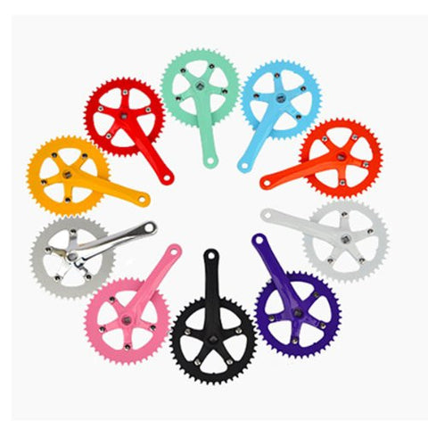 Inbike Fixed Gear Bike 44T High Strength Steel Crankset Color Orange