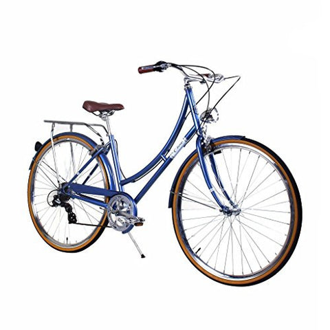 Zycle Fix 39cm Bike 7 Speed Gear Women Civic Series Bicycle - MISTY BLUE
