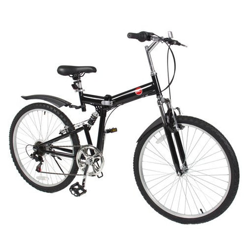 "Best Choice Products 6 Speed Shimano Foldable Bike, 26""/One Size, Black"