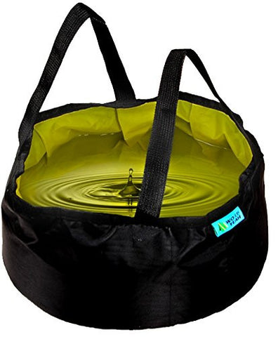 Wo Yeah 10L Outdoor Portable Folding Water Bag Wash Basin Bucket for Camping Hiking Travel