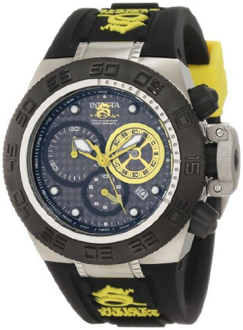 Invicta Women's 10156 Subaqua Noma IV Chronograph Black Dial Black and Yellow Silicone Watch