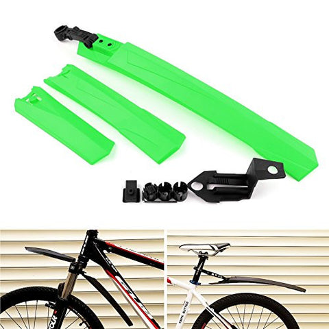 Areyourshop Cycling mountain Bicycle Bike Front / Rear Mud Guards Mudguard Fenders Set Green