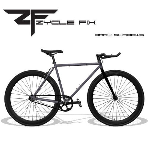 Zycle Fix 59 Inches Bike Fixed Gear Dark Shadow Pursuit Fixie Bicycle 59""