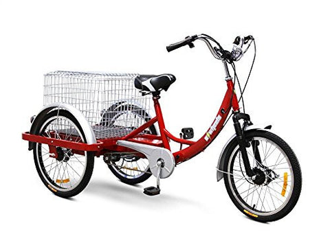 Electric Trike - Lead Acid Battery Powered (Red)