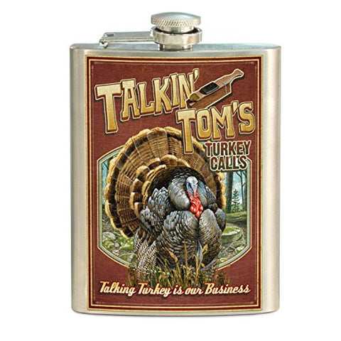 American Expedition STFL-430 Vintage Sign Flask, Turkey, Multi-Color