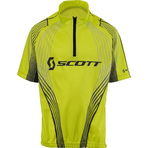 Scott Youth Race Short Sleeve Half-Zip Shirt, Lime Green/Grey (Youth Large)