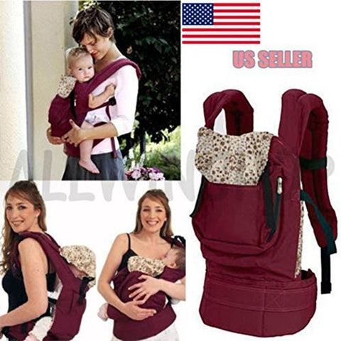 Front & Back Baby Newborn Carrier Infant Comfort Backpack Sling Wrap Cotton OY