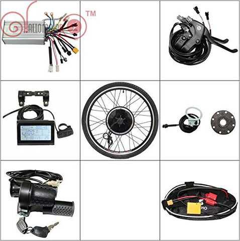 24/36V 500W Wheel Electric Bicycle Ebike Conversion Kits with LCD Display