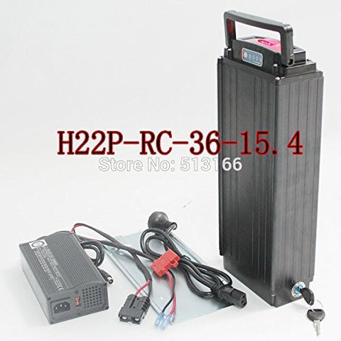 36V 15.4AH Electric Bike / Bicycle Rear Rack Li-ion Polymer Battery H22P Rear Carrier Lithium Battery in Alloy Aluminum Case