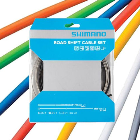 (LL) 2013 Shimano Road Bike PTFE Gear Cable Set Orange