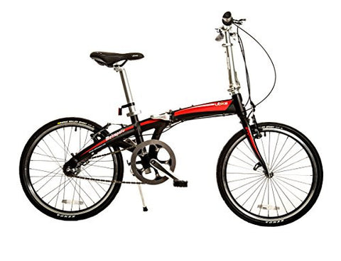 "Bike USA Ubike Metropolis Internal Hub 3-Speed Folding Bicycle with 20"" Wheel, 10""/One Size"
