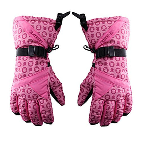 Windproof&Waterproof Women's Comfortable Skiing/Cycling Gloves Sports Glove Pink