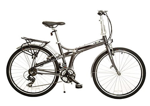 "Bike USA Ubike Swift 21-Speed Full Size Folding Bicycle with 26"", 10""/One Size"