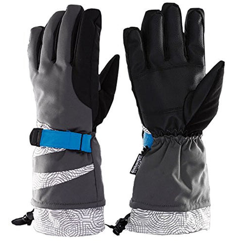 Modovo High Quality Winter Waterproof Outdoor Ski Gloves (ash black 1)
