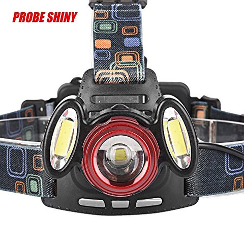 ZIYUO LED Headlamp,Waterproof 8000Lm 3x XML T6 LED Headlamp With 4 modes,18650 battery powered,Adjustable Headlamp Outdoor(battery not included)