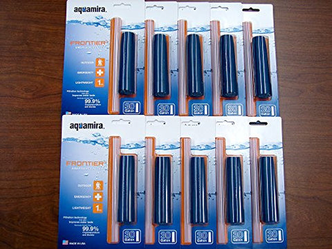 Aquamira Frontier Emergency Water Filter, 10 Pack