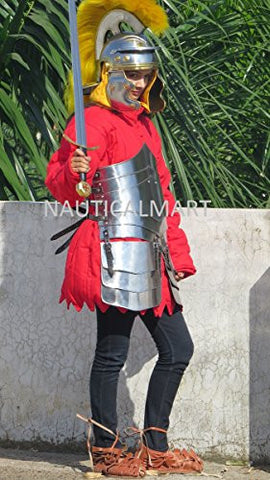 GERMAN STYLE LADIES MEDIEVAL ARMOR WITH FREE RED COTTON GAMBESON BY NAUTICALMART