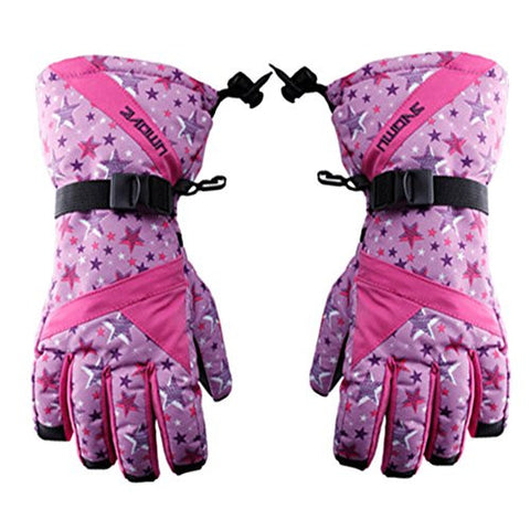 Purple Girls' Outdoor Sports Gloves Skiing/Cycling Gloves Windproof & Waterproof