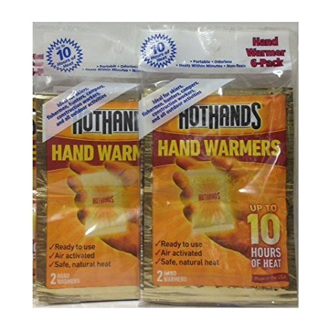 (2 Pack)-HotHands Hand Warmer 6-Pack, Total of 12 Pairs. by HotHands