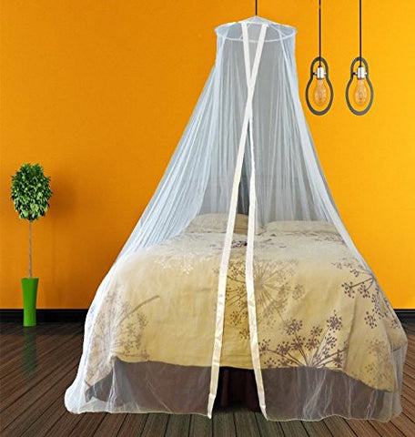 #1 Premium Mosquito Net for Bed Canopy - Ultrasoft | Largest Universal Size- King to Twin | Innovative Design | TONS of FREE Bonus Features | Ultimate Insect Repellent