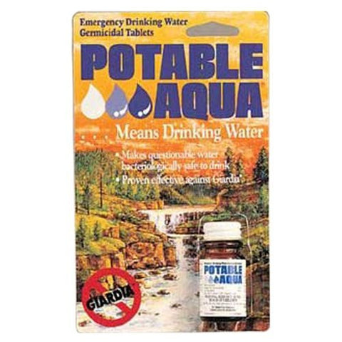 """Potable Aqua"" Water Purification Tablets - Bottle of 50 Tablets"