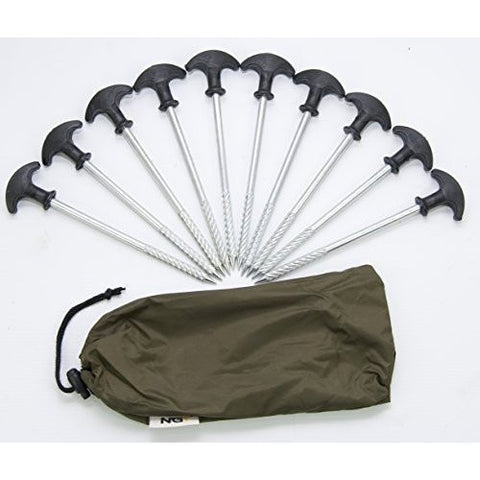 10 bivvy pegs in a case by Carp-Corner