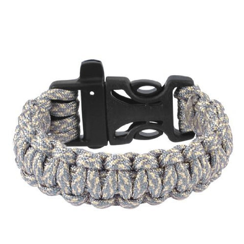 Dimart Outdoors Plastic Side Release Buckle Survival Bracelet Gray