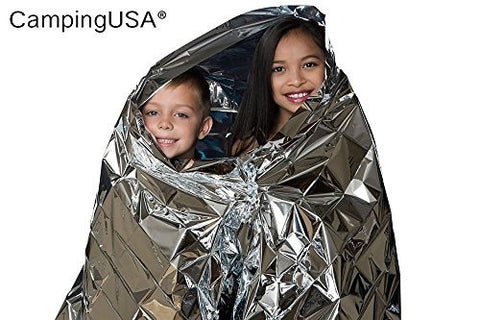 10 PACK CampingUSA Best OrignalEmergency Solar Blanket Survival Safety Insulating Mylar Thermal Heat