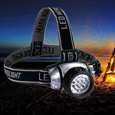 (HQ Product) 21 LEDS 4 Modes Headlamp Fishing Lamp Camping Hiking Flashlight Bike Lamp
