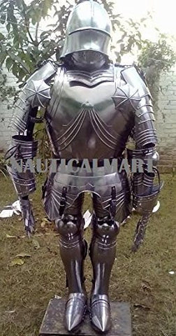 Armor Gothic Knight Full Suit Of Armor 15 Century Halloween Costume By Nauticalmart